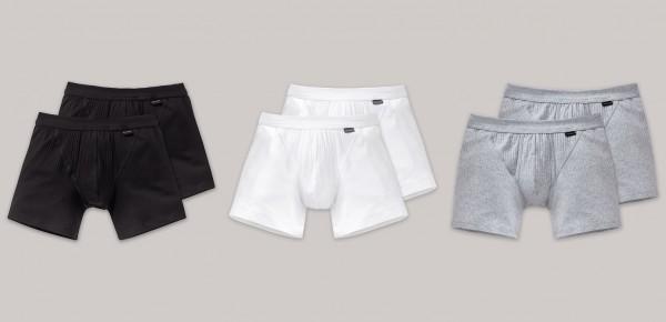 Schiesser Herren Shorts mit Eingriff 2er Pack