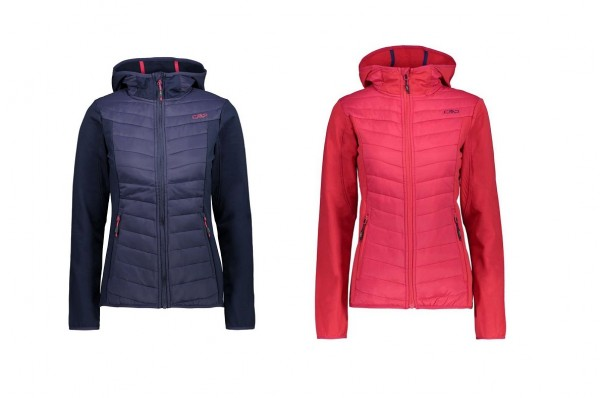 CMP Woman Jacket FIX Hood HYBRID - Damen Outdoorjacke