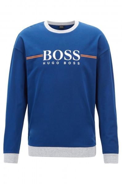 Boss Herren Loungewear-Sweatshirt aus Baumwolle mit Logo-Print