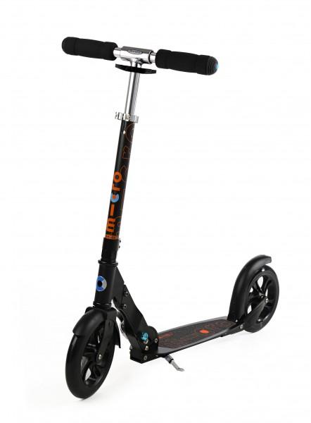 Micro Scooter Black 200mm - Roller/Kickboard