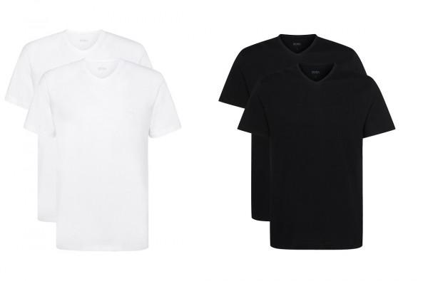 Boss Relaxed-Fit Baumwoll V-Ausschnitt T-Shirts 2er Pack