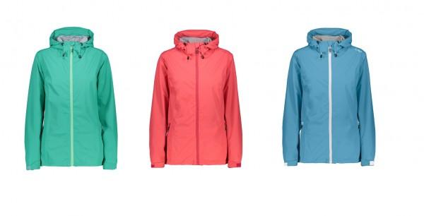 CMP Woman Rain Jacket Fix Hood - Damen Outdoorjacke