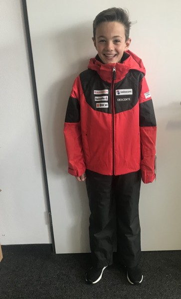 Descente Swiss Replica Suits - Kinder Rennanzug/Skianzug (Jacke+Hose)