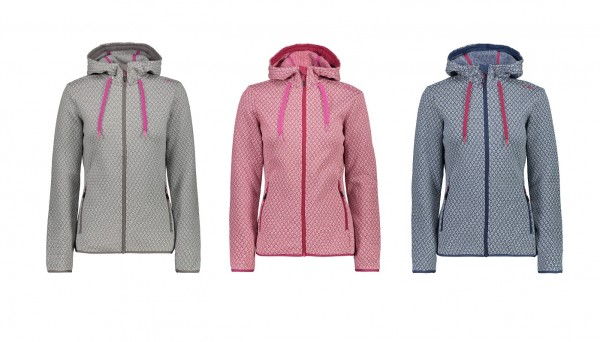 CMP Woman Jacket Fix Hood - Damen Fleecejacke