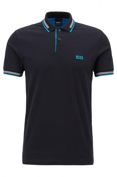 Boss Slim-Fit Poloshirt aus elastischer Baumwolle in versch. Farben